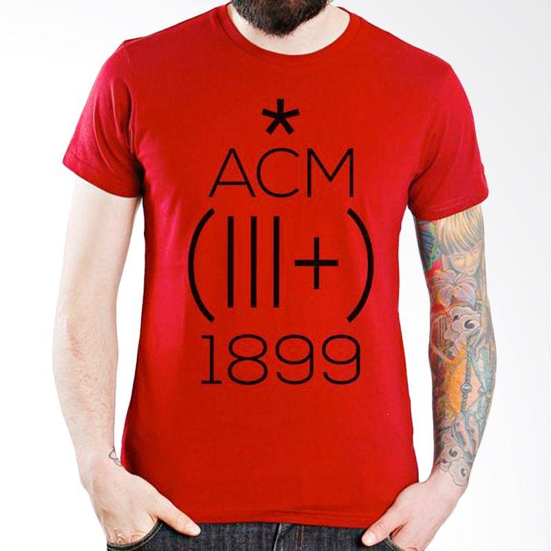 Ordinal AC Milan Edition 01 Merah Kaos Pria