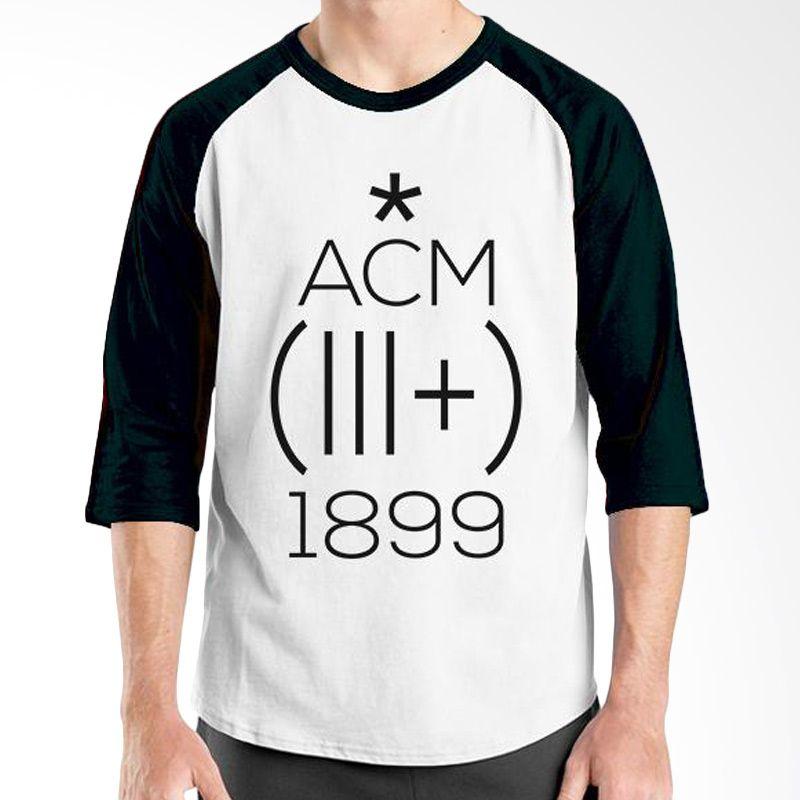 Ordinal AC Milan Edition 01 Raglan Hitam Putih T-Shirt Pria