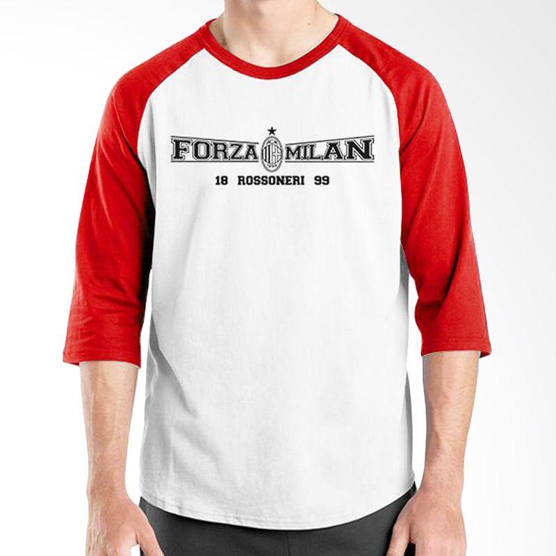 Ordinal AC Milan Edition 02 Raglan Merah Putih T-Shirt Pria