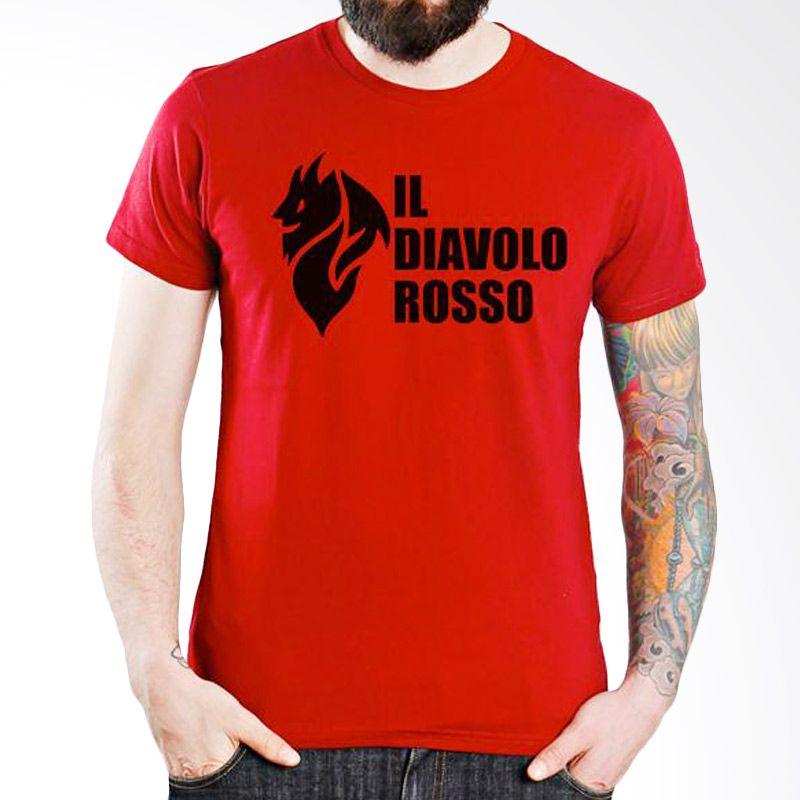 Ordinal AC Milan Edition 04 Merah Kaos Pria