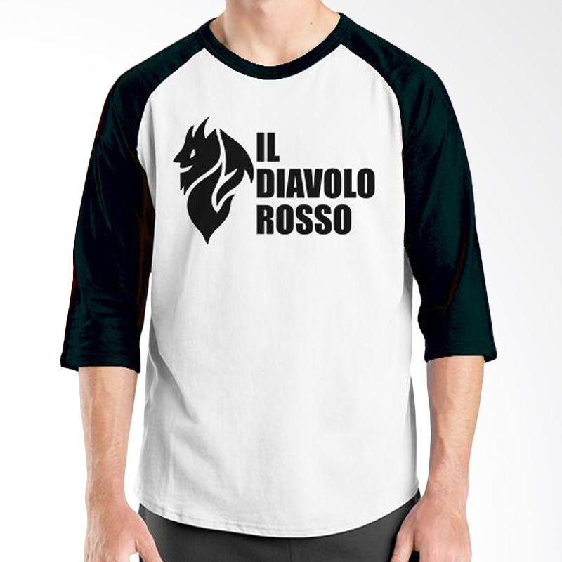 Ordinal AC Milan Edition 04 Raglan Hitam Putih T-Shirt Pria