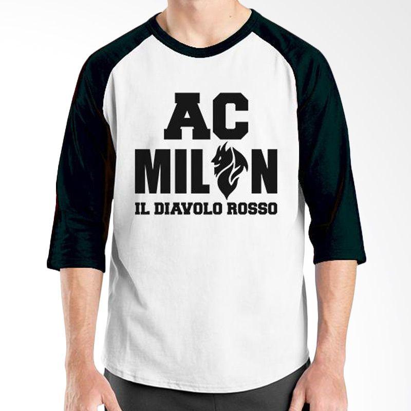 Ordinal AC Milan Edition 05 Raglan Hitam Putih T-Shirt Pria