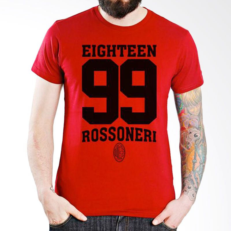 Ordinal AC Milan Edition 06 Merah T-Shirt Pria