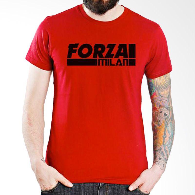 Ordinal AC Milan Edition 07 Merah T-Shirt Pria