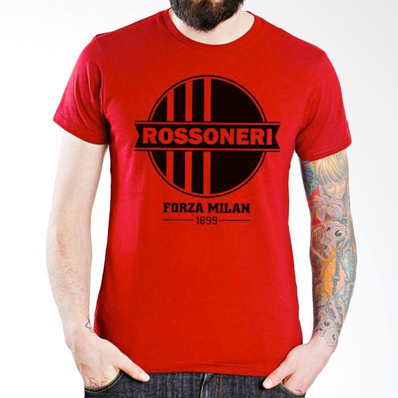 Ordinal AC Milan Edition 08 Merah T-Shirt Pria