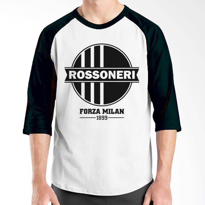 Ordinal AC Milan Edition 08 Raglan Hitam Putih T-Shirt Pria