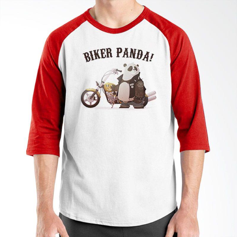 Ordinal Animal Character 01 Raglan Merah Putih T-Shirt Pria