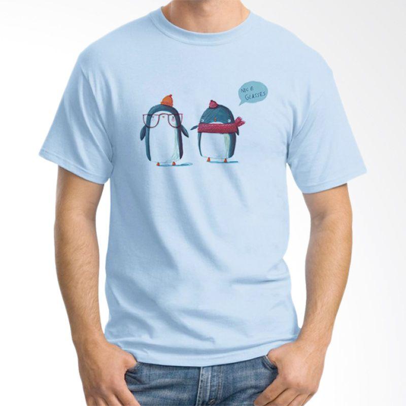 Ordinal Animal Character 04 Biru Muda T-Shirt Pria