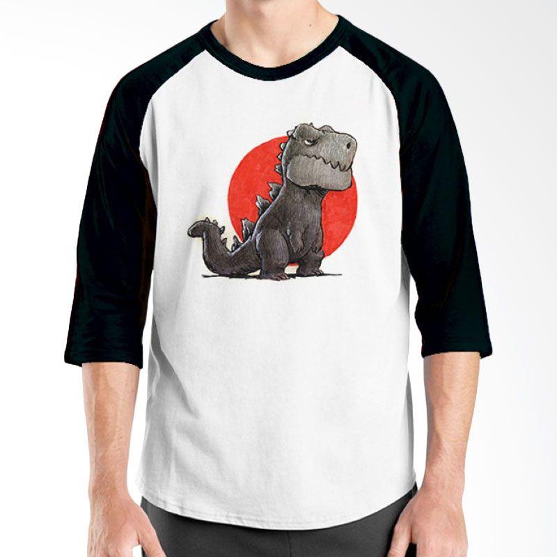 Ordinal Animal Character 05 Raglan Hitam Putih T-Shirt Pria