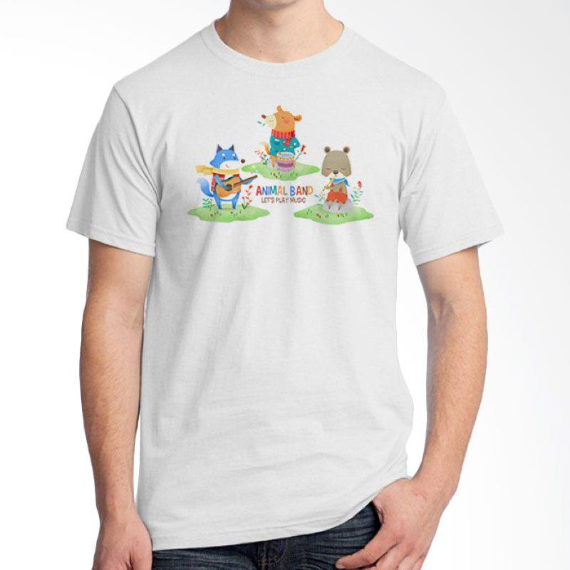 Ordinal Animal Character 09 Putih T-Shirt Pria