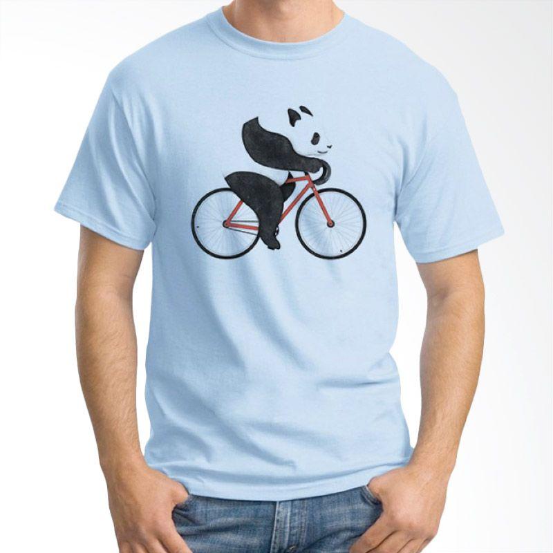 Ordinal Animal Character 14 Biru Muda T-Shirt Pria