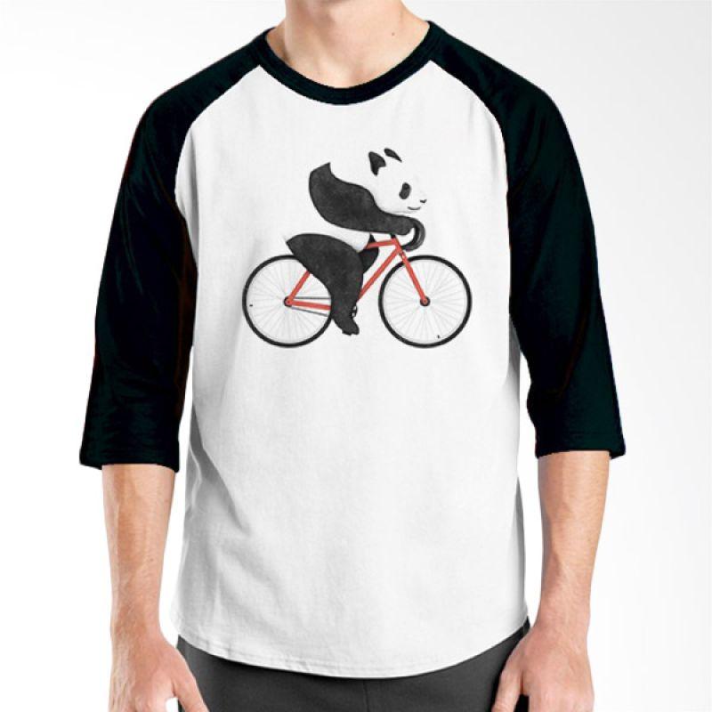 Ordinal Animal Character 14 Raglan Hitam Putih T-Shirt Pria