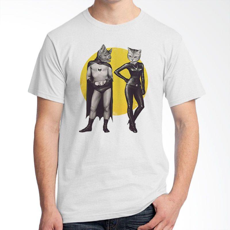 Ordinal Animal Character 15 Putih T-Shirt Pria