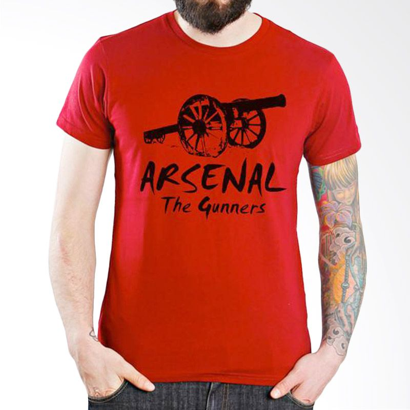 Ordinal Arsenal Edition 02 Merah Kaos Pria