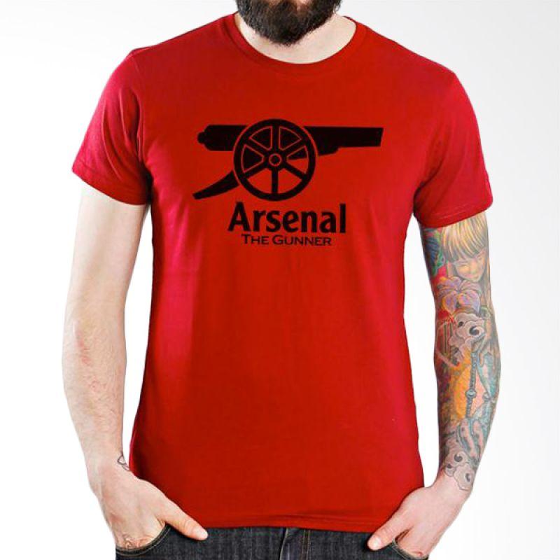 Ordinal Arsenal Edition 05 Merah Kaos Pria