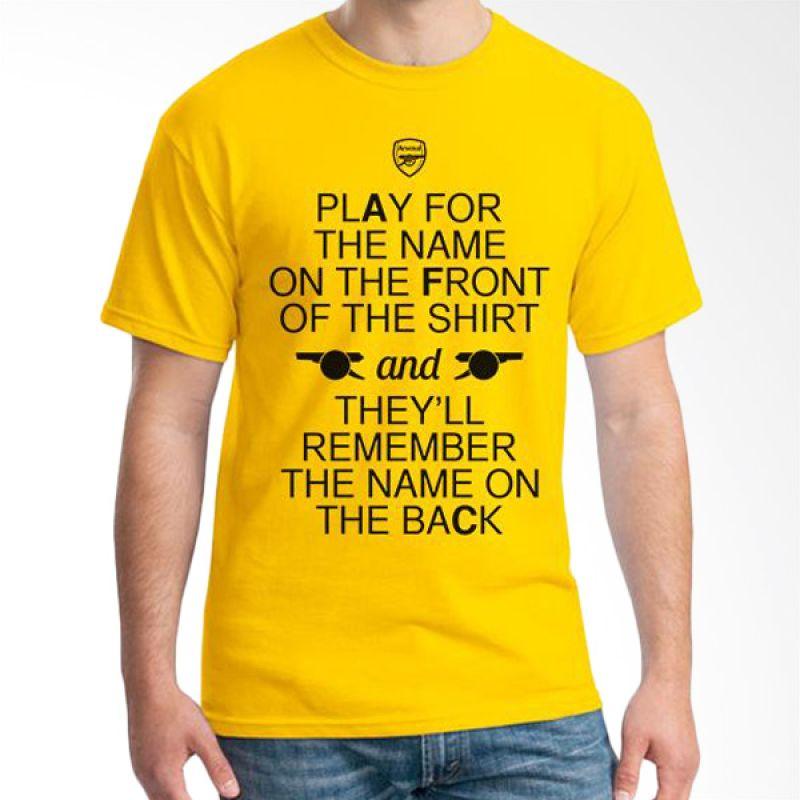 Ordinal Arsenal Edition 06 Kuning Kaos Pria