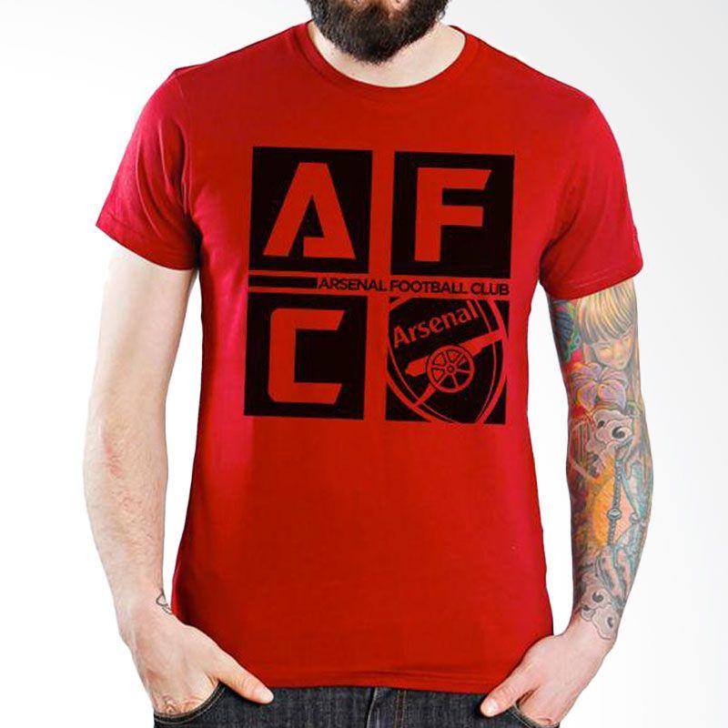 Ordinal Arsenal Edition 07 Merah Kaos Pria