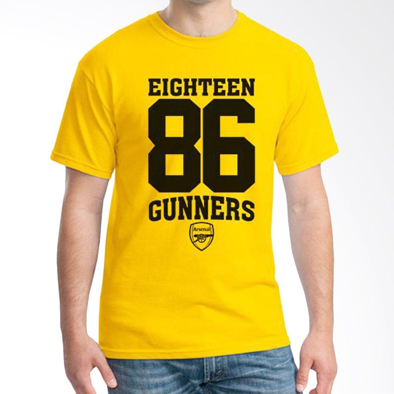Ordinal Arsenal Edition 08 Kuning Kaos Pria