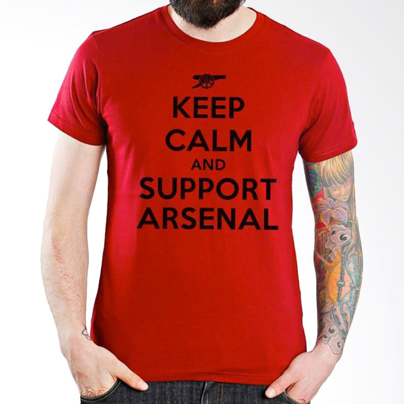 Ordinal Arsenal Edition 09 Merah Kaos Pria