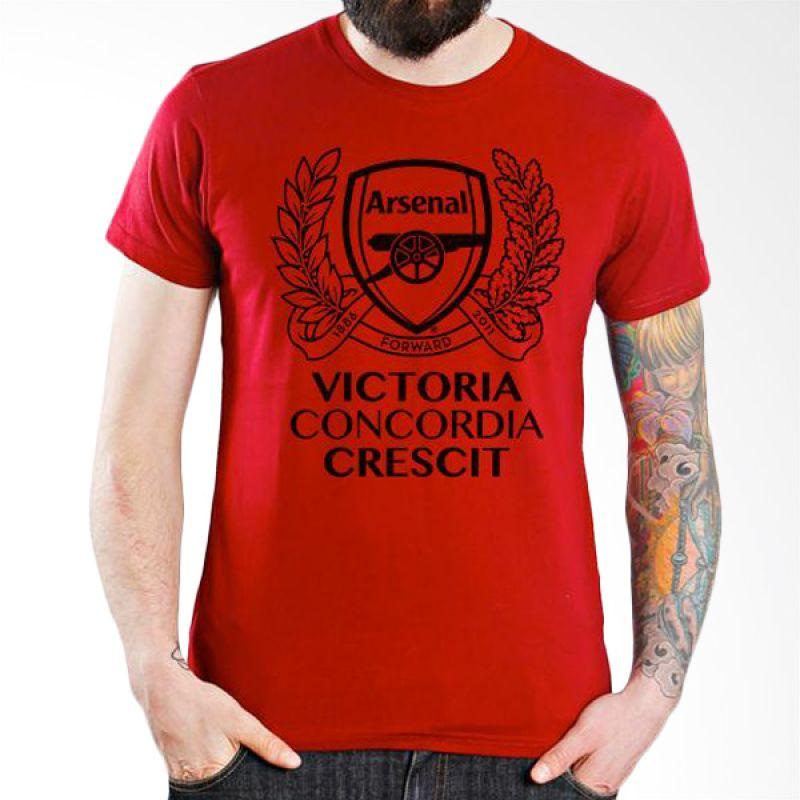 Ordinal Arsenal Edition 10 Merah Kaos Pria