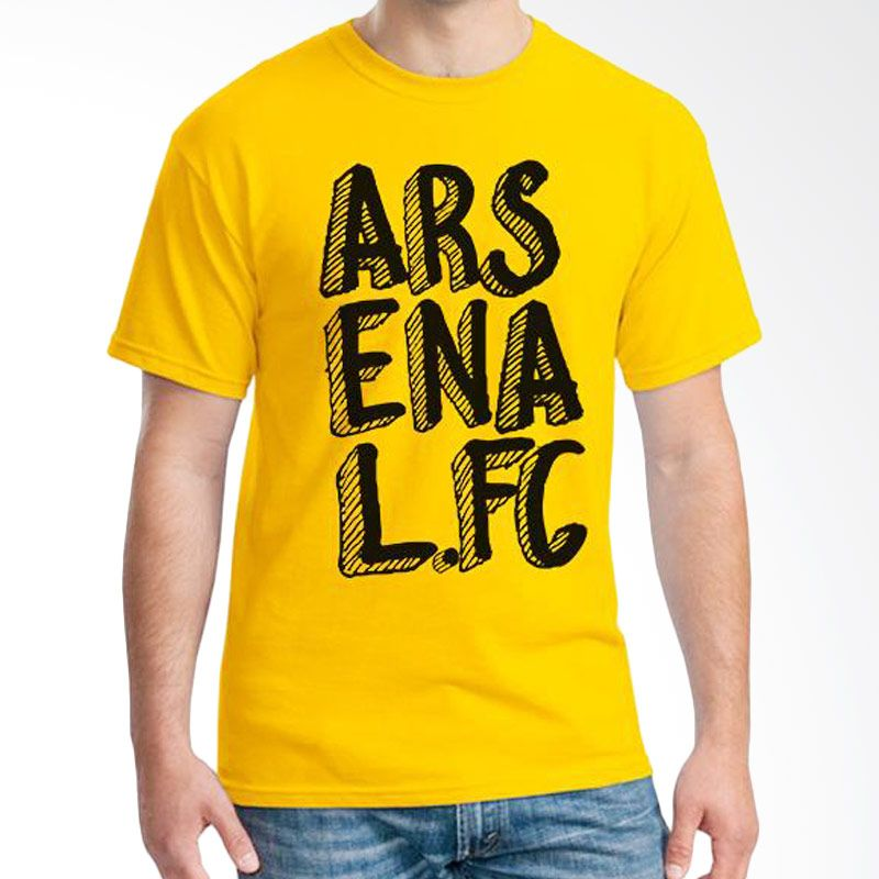 Ordinal Arsenal Edition 11 Kuning Kaos Pria