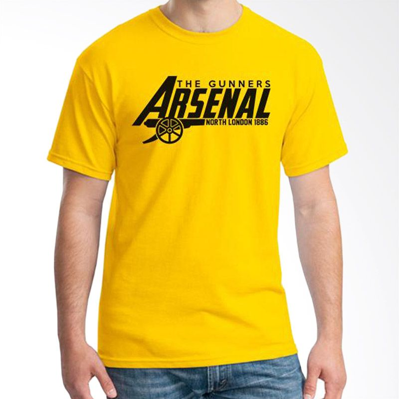 Ordinal Arsenal Edition 12 Kuning Kaos Pria