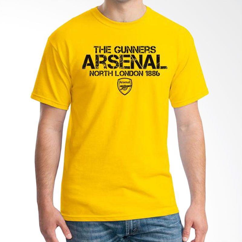 Ordinal Arsenal Edition 14 Kuning Kaos Pria