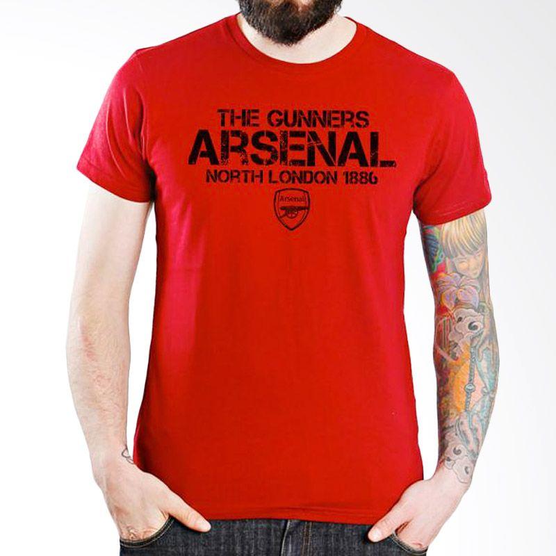 Ordinal Arsenal Edition 15 Merah Kaos Pria