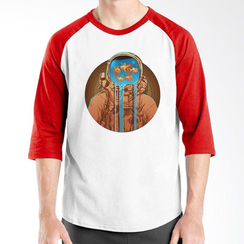 Ordinal Raglan Astro Fish Edition Merah Putih T-Shirt Pria