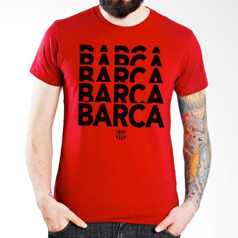 Ordinal Barcelona Edition 01 Merah Kaos Pria
