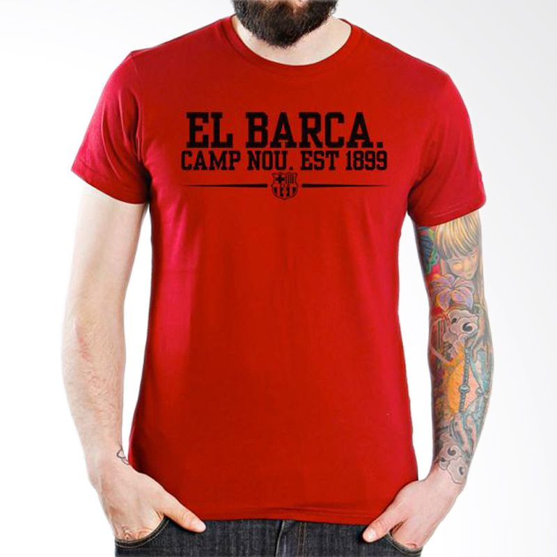 Ordinal Barcelona Edition 04 Merah T-Shirt Pria