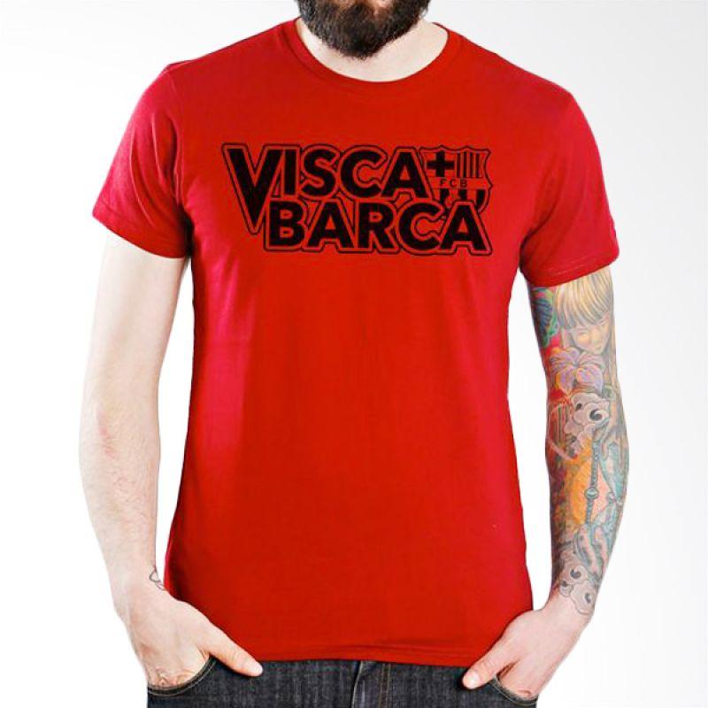 Ordinal Barcelona Edition 05 Merah Kaos Pria