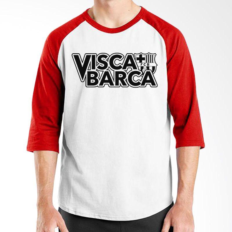 Ordinal Barcelona Edition 05 Raglan Putih Merah T-Shirt Pria