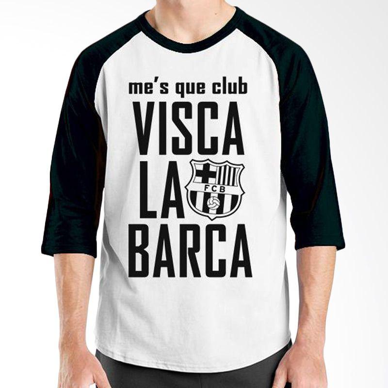 Ordinal Barcelona Edition 06 Raglan Putih Hitam T-Shirt Pria