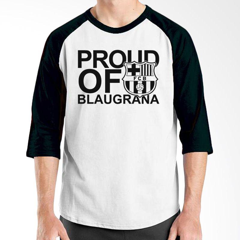 Ordinal Barcelona Edition 07 Raglan Putih Hitam T-Shirt Pria