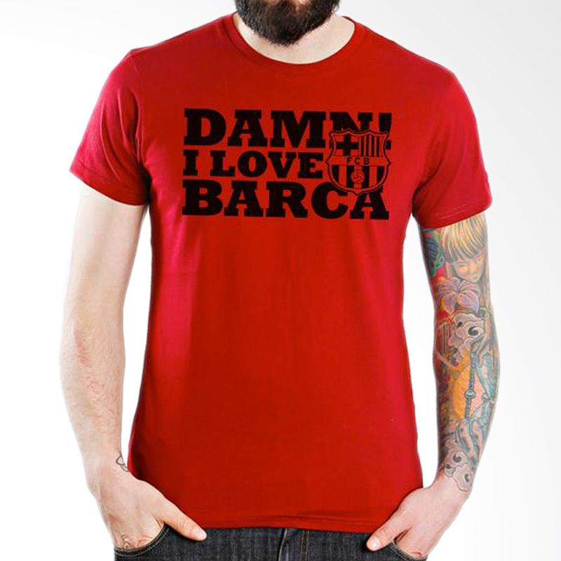 Ordinal Barcelona Edition 08 Merah T-Shirt Pria