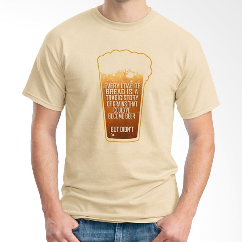 Ordinal Beer Holic Edition 07 Coklat Krem Kaos Pria