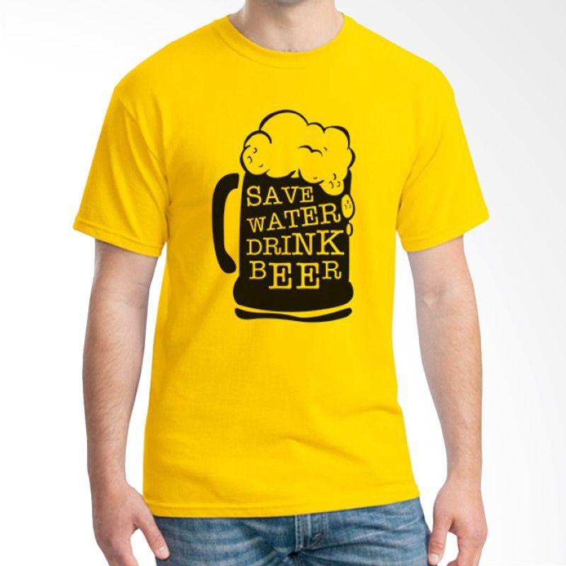 Ordinal Beer Holic Edition 09 Kuning Kaos Pria
