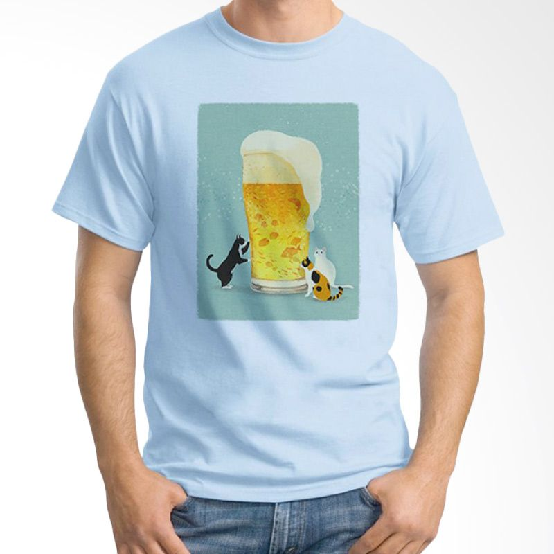 Ordinal Beer Holic Edition 16 Biru Muda Kaos Pria