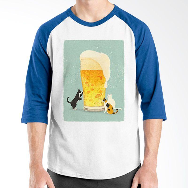 Ordinal Raglan Beer Holic Edition 16 Biru Putih T-Shirt Pria