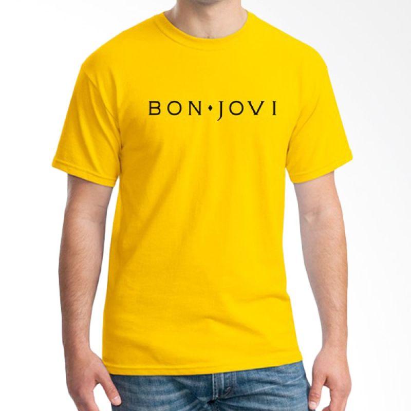 Ordinal Bon Jovi Edition 03 Kuning T-Shirt Pria