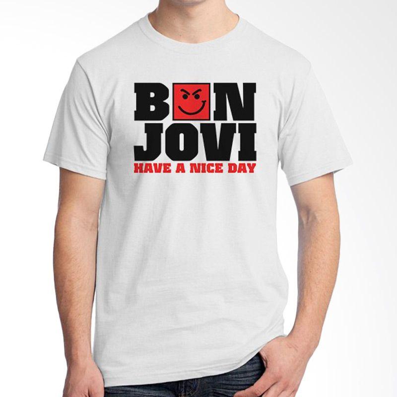 Ordinal Bon Jovi Edition 06 Putih Kaos Pria