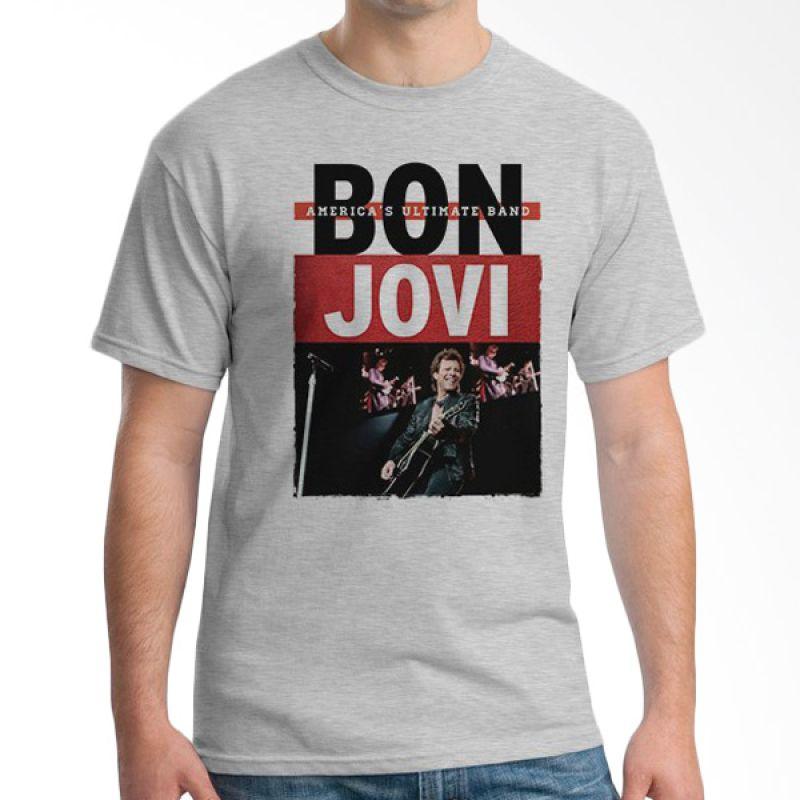 Ordinal Bon Jovi Edition 09 Abu-abu T-Shirt Pria