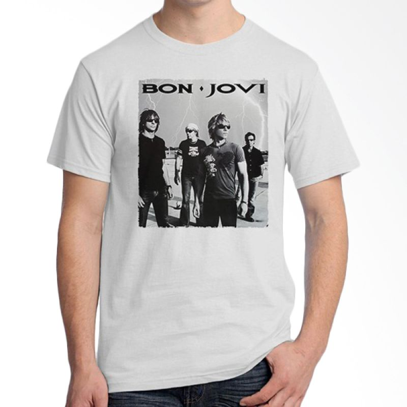 Ordinal Bon Jovi Edition 10 Putih T-Shirt Pria