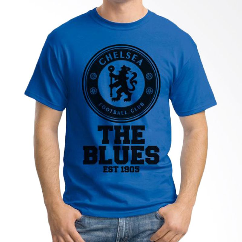 Ordinal Chelsea 01 Biru Tua T-Shirt Pria