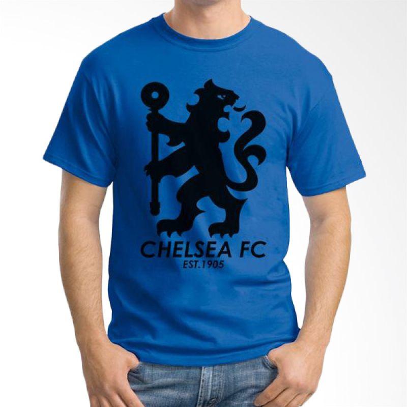 Ordinal Chelsea 08 Biru Tua Kaos Pria
