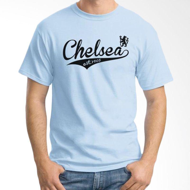 Ordinal Chelsea 09 Biru Muda Kaos Pria