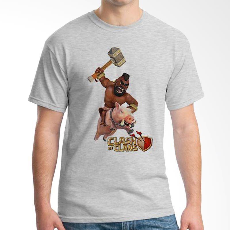 Ordinal Clash of Clans Edition 04 Abu-abu T-Shirt Pria