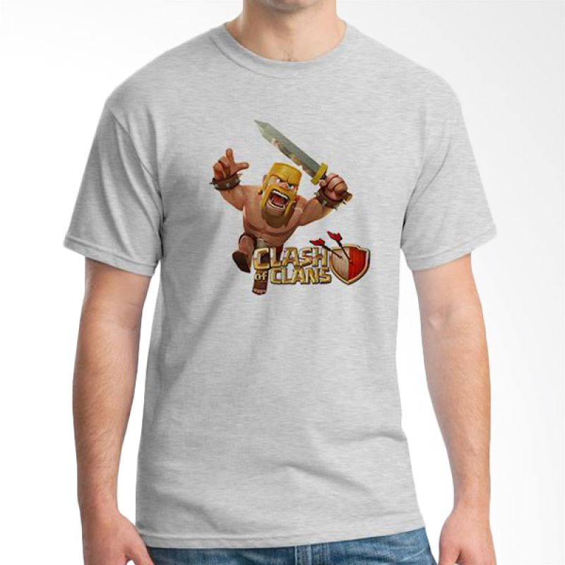 Ordinal Clash of Clans Edition 11 Abu-abu T-Shirt Pria