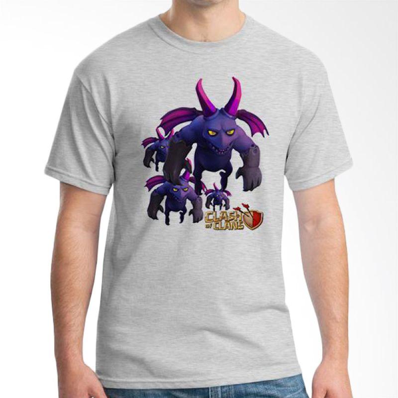 Ordinal Clash of Clans Edition 12 Abu-abu T-Shirt Pria